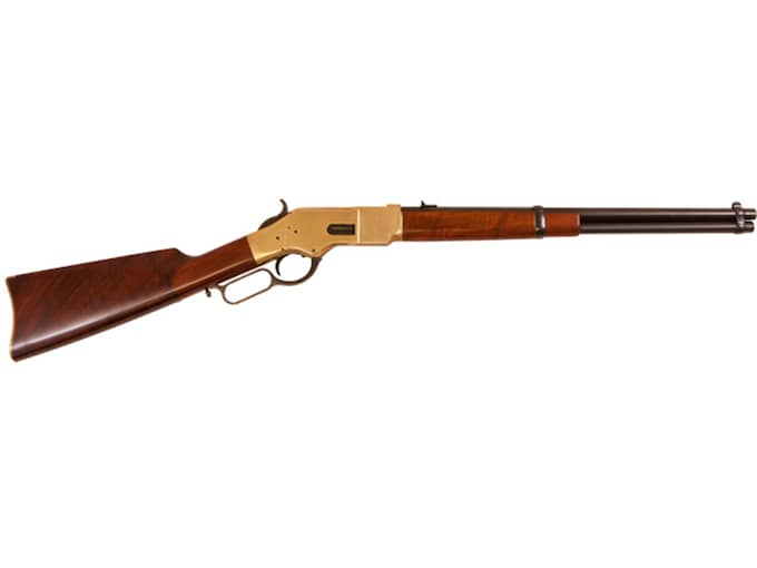 """Cimarron 1866 Yellowboy Trapper Rifle 16"""" Barrel Blue, Walnut"""