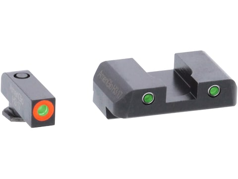 Ameriglo Spartan Operator Night Sight Set Glock 17, 19, 19X, 26, 45 Gen 5 3-Dot Tritium...