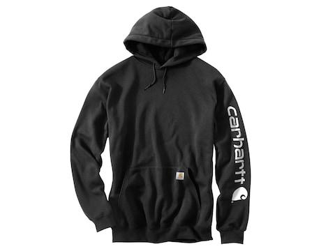 Carhartt Men's Midweight Signature Sleeve Logo Hooded Sweatshirt Cotton/Polyester