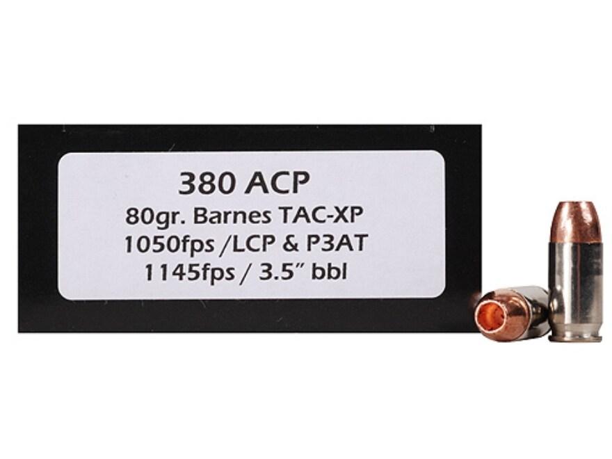 Doubletap Ammo 380 ACP 80 Grain Barnes TAC-XP Hollow Point Lead-Free