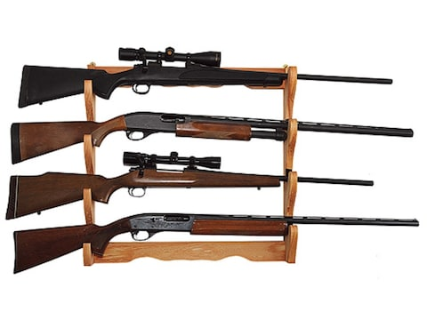 Allen Wall Display 4-Gun Rack Wood