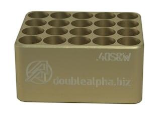 Double-Alpha Golden 20 Pocket Cartridge Gauge 40 S&W Anodized Aluminum