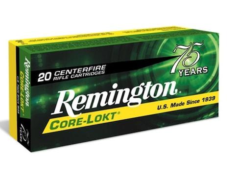 Remington Core-Lokt Ammunition 30-06 Springfield 180 Grain Core-Lokt Pointed Soft Point...
