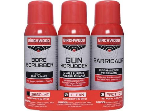Birchwood Casey 1-2-3 Aerosol Value Pack (Gun Scrubber, Bore Scrubber and Barricade)