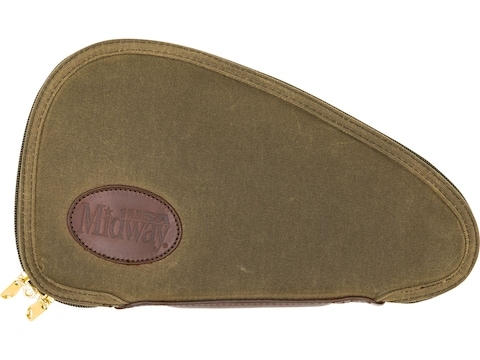 MidwayUSA Waxed Canvas Pistol Case