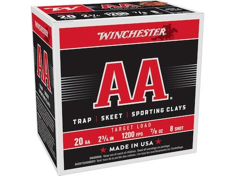 """Winchester AA Target Ammunition 20 Gauge 2-3/4"""" 7/8 oz"""