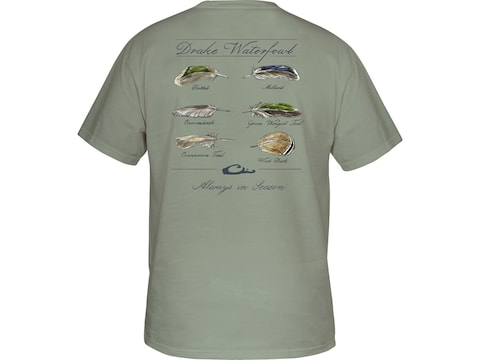 Drake Men's Feather Collection Short Sleeve T-Shirt Cotton