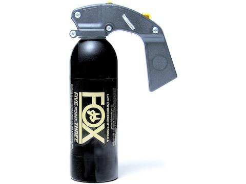 Fox Labs 12 oz Aerosol Pepper Spray Aerosol Pistol Grip Fog 2% OC and UV Dye Black