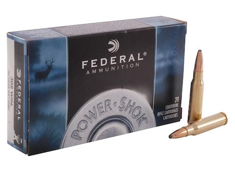 Federal Power-Shok Ammunition 308 Winchester 180 Grain Soft Point Box of 20