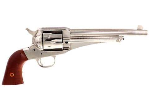 "Cimarron 1875 Outlaw Revolver 45 Colt (Long Colt) 7.5"" Nickel Barrel, 6-Round Nickel Fr..."
