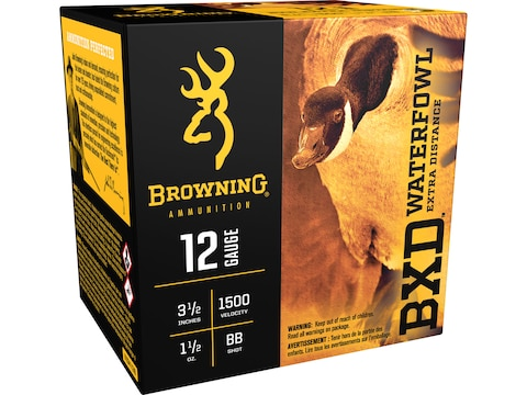 Browning BXD Waterfowl Ammunition 12 Gauge Non-Toxic Steel Shot