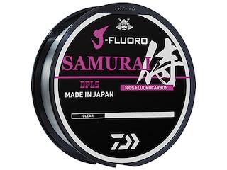 Daiwa J-Fluoro Samurai Fluorocarbon Fishing Line 4lb 220yd Clear