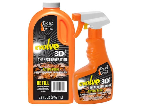 Dead Down Wind Scent Elimination Field Spray Combo Natural Woods Scent 44 oz