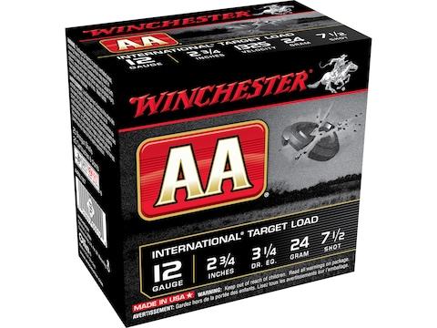 """Winchester AA InterNational Target Ammunition 12 Gauge 2-3/4"""" 7/8 oz"""