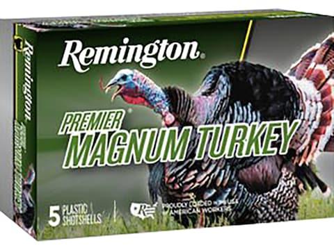 "Remington Premier Magnum Turkey Ammunition 10 Gauge 3-1/2"" 2-1/4 oz #4 Copper Plated Shot"