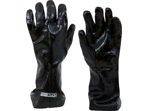 """Callahan 14"""" Chemical Resistant Gloves PVC Coated Large Black"""