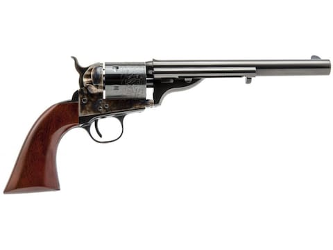 Cimarron 1872 Open Top Navy Revolver 6-Round Color Case Hardened, Blue, Walnut