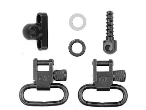 GrovTec Shotgun Locking Sling Swivel Set For Side-By-Side Shotguns Steel Black