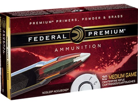 Federal Premium Ammunition 6.5 Creedmoor 140 Grain Nosler AccuBond Box of 20