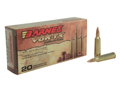 Barnes VOR-TX Ammunition 22-250 Remington 50 Grain TSX Hollow Point Lead-Free Box of 20