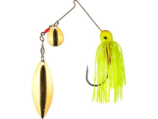 Strike King Compact Silhouette Colorado Indiana Spinnerbait 3/8oz Chartreuse Gold