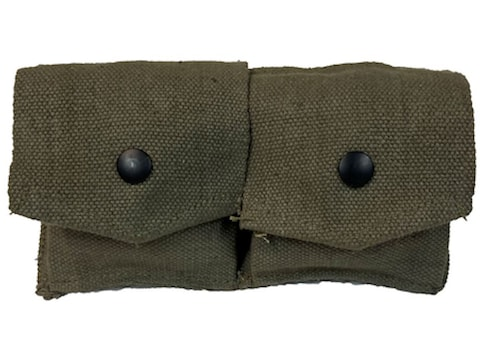 Military Surplus French 2-Piece Canvas Pouch Grade 2