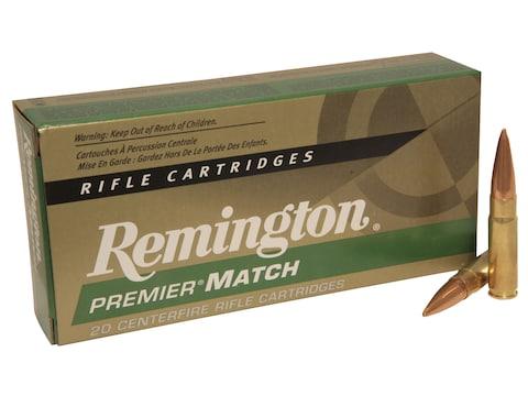Remington Premier Match Ammunition 300 AAC Blackout 125 Grain Open Tip Match Box of 20