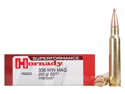 Hornady Superformance SST Ammunition 338 Winchester Magnum 200 Grain SST Box of 20