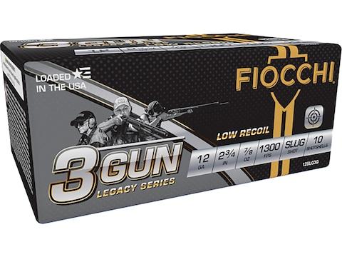 """Fiocchi 3-Gun Ammunition 12 Gauge 2-3/4"""" 7/8 oz Rifled Slug"""