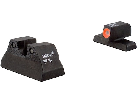 Trijicon HD Night Sight Set HK P2000 Steel Matte 3-Dot Tritium Green with Front Dot Out...