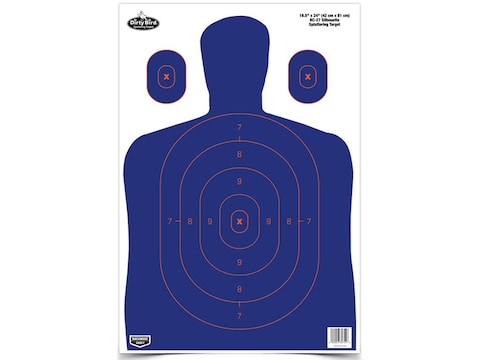 "Birchwood Casey Dirty Bird 16-1/2"" x 24"" BC-27 Blue/Orange Silhouette Targets Package of 3"