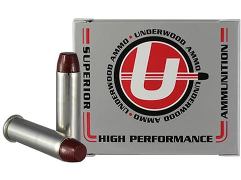 Underwood Ammunition 357 Magnum 180 Grain Lead Flat Nose Gas Check Box of 20