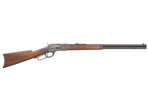"Cimarron 1873 Sporting Rifle 24"" Octagon Barrel Color Case Hardened, Blue, Walnut"