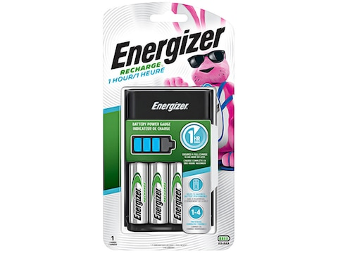 Energizer Recharge 1 Hour Battery Charger with 4 AA Batteries