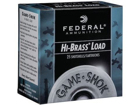 "Federal Game-Shok Hi-Brass Ammunition 20 Gauge 2-3/4"" 1 oz"