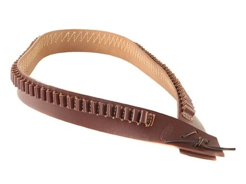 Hunter 745 Bandolero Pistol Cartridge Belt 45 Caliber 85 Loops Leather Antique Brown