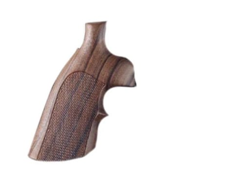 Hogue Fancy Hardwood Grips with Top Finger Groove Ruger Security Six Checkered