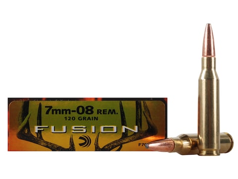 Federal Fusion Ammunition 7mm-08 Remington 120 Grain Bonded Spitzer Boat Tail Box of 20