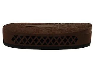 """Pachmayr F325 Deluxe Field Recoil Pad Grind to Fit 1.1"""" Medium with Stippled Face Brown"""