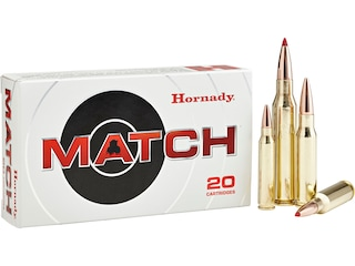 Hornady Match Ammunition 308 Winchester 168 Grain ELD Match Box of 20
