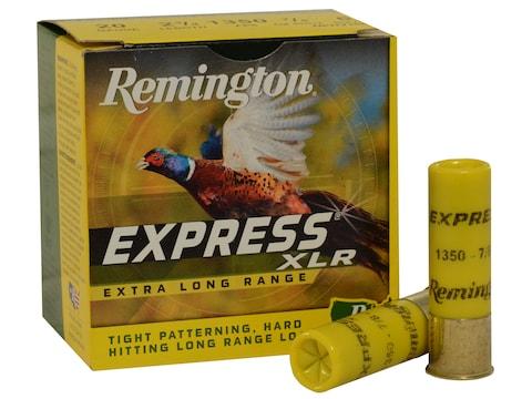 "Remington Express Extra Long Range Ammunition 20 Gauge 2-3/4"" 7/8 oz #6 Shot Box of 25"