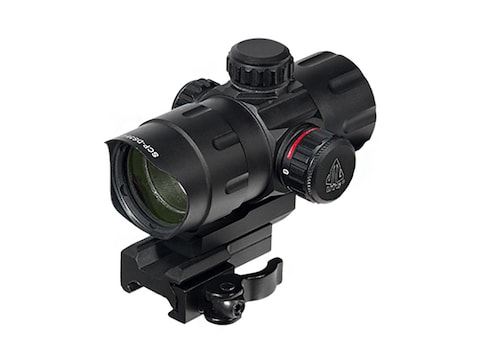 UTG Red Dot Sight 32mm 1x Red and Green T-Dot with Riser and Quick-Detach Weaver/Picati...
