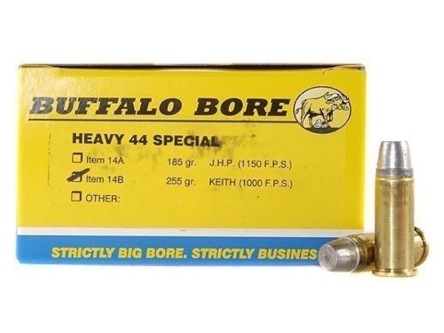 Buffalo Bore Ammo 44 Special 255 Grain Lead Semi-Wadcutter Gas Check