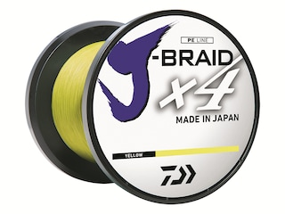 Daiwa J-Braid X4 Braided Fishing Line 30lb 300yd Flourescent Yellow