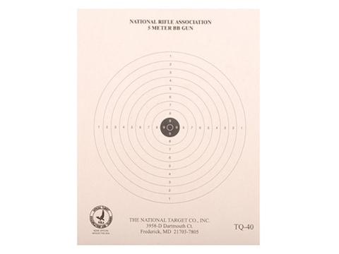 NRA Official BB Gun Training Targets TQ-40 5-Meter Paper Pack of 100