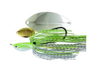 Picasso Super Strong Inviz Wire Tandem Thunder Spinnerbait 1/4oz Chartreuse/White Chrome Gold/Nickel