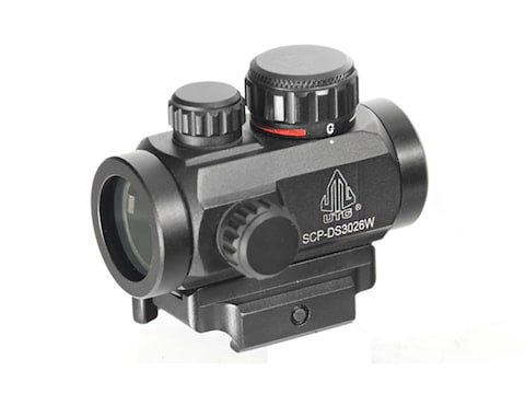 UTG Micro Red Dot Sight 30mm 1x Red and Green Dot with Quick-Detach Weaver/Picatinny-St...