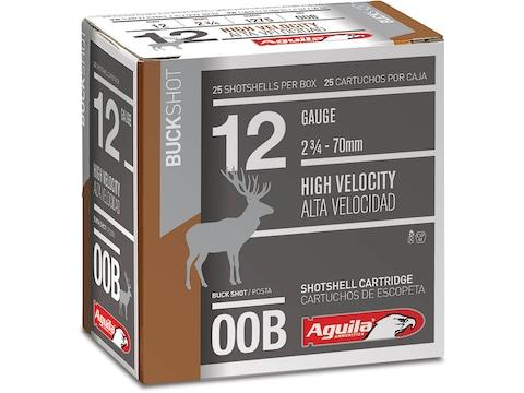 "Aguila Ammunition 12 Gauge 2-3/4"" 00 Buckshot 9 Pellets"