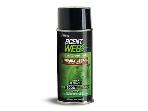 HME Scent Web Bearly Legal Smokey Bacon Scented Foam String Spray Bear Scent 5 oz Aerosol
