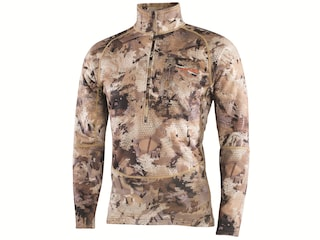 Sitka Gear Men's Grinder Heavyweight 1/2 Zip Pullover Polyester Optifade Waterfowl Marsh Camo Large